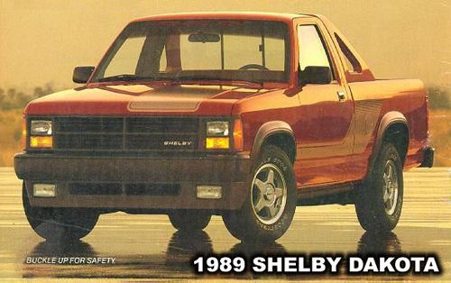 1989 Shelby Dakota Pick-up, photo from Dodge Truck Advertisement.