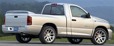 2004 Dodge Ram SRT-10 in silver.